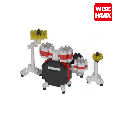 Wise hawk nanoblocks drumkit